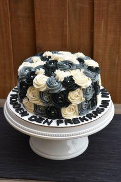 Black and White Buttercream Rosette Birthday Cake! https://nichaliciousbaking.wordpress.com/easter-sugar-cookies/