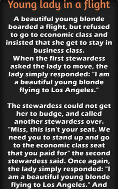 A beautiful young lady boards a flight… – Jokes Jelly Beautiful Young Lady, Great Stories, Young Women, Jelly, Boards, Jokes, Planks, Chistes, Marmalade