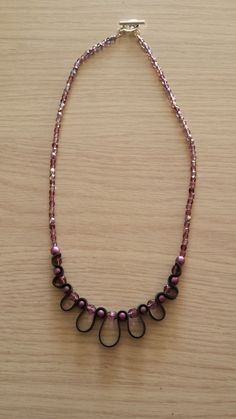 Lilac/purple inner tube necklace made of rubber by WithLoveFromLiz