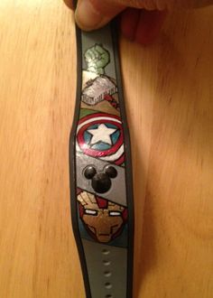 Love the MARVEL Characters - esp Captain America! Has anyone decorated their Magic Bands? Disney 2015, Disney Day, Disney World Vacation, Disney Vacations, Disney Love, Walt Disney, Disney Stuff, Disney Travel, Disney Family