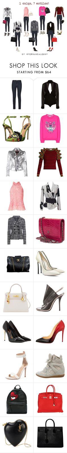 """7 styles"" by fleony on Polyvore featuring moda, Armani Jeans, Balmain, Dsquared2, Kenzo, Gucci, Martha Medeiros, Emporio Armani, Dolce&Gabbana e Chanel"