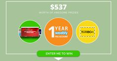 INCREDIBLE GIVEAWAY for WEEBLY USERS