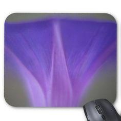 Purple Morning Glory Close-Up Mouse Pad