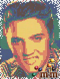 Elvis made of M&M's