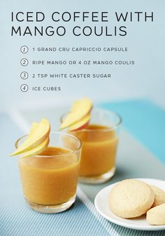 Indulge yourself with this deliciously refreshing Iced Coffee with Mango Coulis recipe from Nespresso. The richness of Capriccio Grand Cru pairs perfectly with the sweetness of a fresh mango puree. This sweet treat makes for a great afternoon pick-me-up that you won't be able to get enough of.
