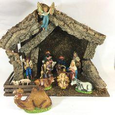 Fontanini Nativity Set Scene Creche Vintage by RetroResaleSanDiego