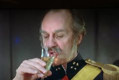 Here's the General sipping some fab champers. Babette's Feast.