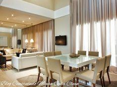 decoration of white and beige dining room Beige Dining Room, Dining Room Design, Dining Rooms, Dining Table, Hall And Living Room, Decoration, Sweet Home, Interior Design, Furniture