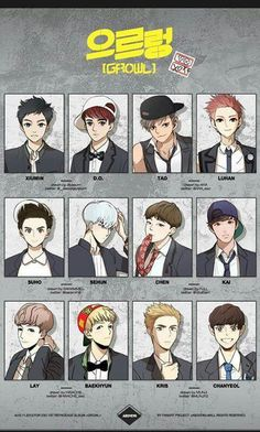 I only semi like this fanart, but I had to pin it because of Tao, Kris, and Luhan. - EXO ♡ | to whomsoever drew this...props