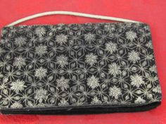 Black Velvet Sequin Purse Made in India c1960 by myabbiesattic, $24.99