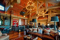 Park City resident home, Utah - rustic - Living Room - Other Metro - Trestlewood