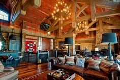 Park City resident home, Utah - rustic - Living Room - Other Metro - Trestlewood