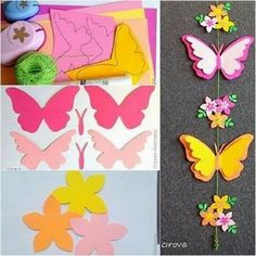 Make Folded Paper Butterflies Tutorial