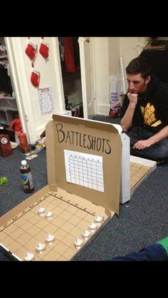 alcohol, creative, drinking, party I want to try this with the kids but replace alcohol with candy or dimes. You will have to see who end up with the most at the end. (party drinks alcohol with candy) - Battle Shots, Backyard Party Games, Drinking Games For Parties, College Drinking Games, College Party Games, Outdoor Drinking Games, Teen Party Games, Birthday Party Games, 21st Birthday