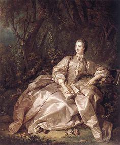 Boucher Paintings-Madame de Pompadour, 1758