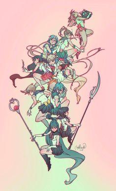 All sailor scouts😄 Arte Sailor Moon, Sailor Moon Fan Art, Sailor Pluto, Sailor Jupiter, Sailor Venus, Sailor Mars, Sailor Moon Crystal, Sailor Scouts, Sailor Moon Personajes