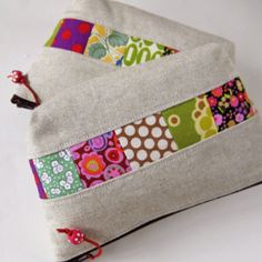 Zakka zippered Pouches #zakka #zipper #pouch #sewing