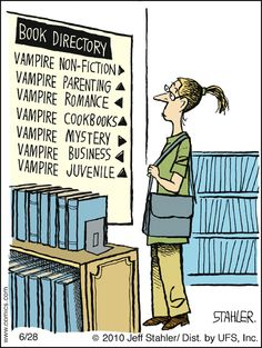 This is how I felt at Barnes and Noble.  Since when did Vampires become heroes?