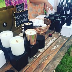 A gorgeous range of Eco-soy candles at 👌🏼 V60 Coffee, Soy Candles, Coffee Maker, Kitchen Appliances, Perfume, Range, Display, Coffee Maker Machine, Diy Kitchen Appliances