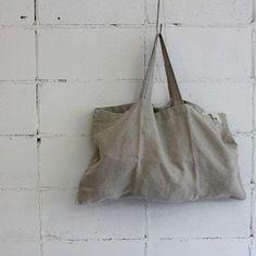 Linen bag 38 x x Craft Bags, Linen Bag, Tote Pattern, Simple Bags, Market Bag, Cute Bags, Bag Making, Fashion Bags, Reusable Tote Bags