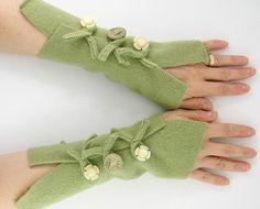 Fingerless mittens arm warmers
