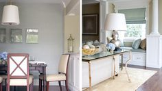 Back Country Colonial, Greenwich CT | Morgan Harrison Home, roman shade, silver lamp