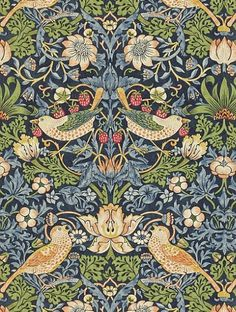 Morris and Co's Strawberry Thief is taken from the Archive II Wallpapers wallpaper collection and is in stock and available for purchase.