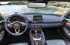 called the mazda MX-5 levanto, a special coating has been produced with skilled artisans and craftsman who carefully measured out the amount of sheer from the paint to produce a natural blend, without any kind of separation between the two colors.