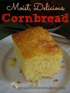 Moist, Delicious Cornbread