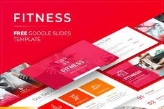 Free Fitness Google Slides Presentation Template Free Powerpoint Presentations, Powerpoint Presentation Templates, Keynote Template, Free Fitness, Google