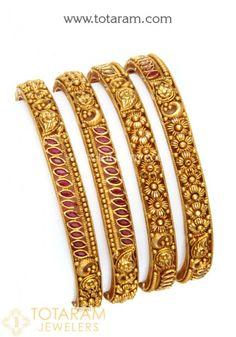 Gold Bangles for Women in Gold -Indian Gold Jewelry -Buy Online Gold Bangles For Women, Gold Jewelry, Women Jewelry, Organza Saree, Uncut Diamond, Diamond Bangle, Indian, Jewels, Bracelets
