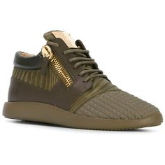 Giuseppe Zanotti Design Side Zip Sneakers Militare Men Shoes Trainers ❤ liked on Polyvore featuring men's fashion, men's shoes, men's sneakers, giuseppe zanotti mens sneakers, mens shoes, giuseppe zanotti mens shoes and mens sneakers