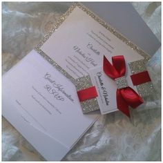 Luxury Handmade sparkle and glitter door CrystalCoutureInvite