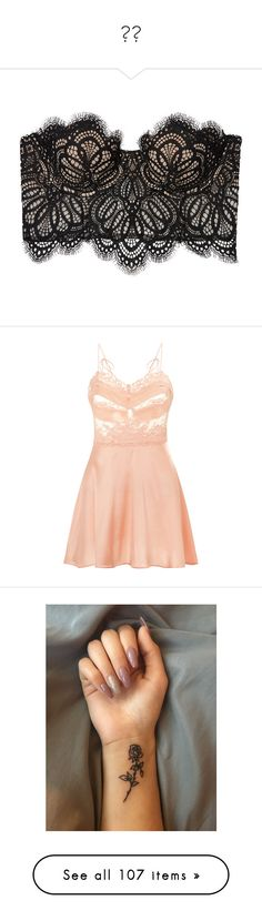 """""""❤️"""" by ilovetrey ❤ liked on Polyvore featuring intimates, lingerie, doll lingerie, la perla lingerie, peach lingerie, lace lingerie, lacy lingerie, accessories, body art and tattoos"""