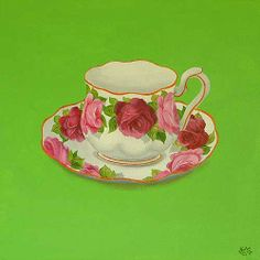 Old English Rose Tea cup