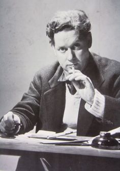 """ ― Dylan Thomas, Under Milk Wood Welsh poet and writer Dylan Thomas was born on the 27 October Dylan Thomas, Writers And Poets, Writers Write, Dying Of The Light, Book Writer, Portraits, Playwright, Swansea Wales, Grammar School"