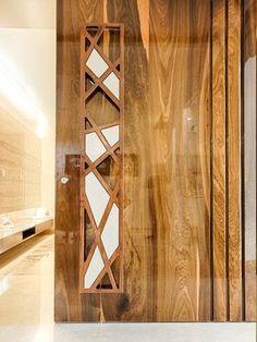 Pokar Architects - October 09 2018 at - July 27 2019 at Door Design Interior, Main Door Design, Wooden Doors Interior, Interior Barn Doors, Wood Doors, Doors Interior, Ceiling Design, Entrance Design, Front Door Design