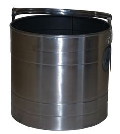 Stainless steel coal bucket for carrying and holding your logs.  An attractive stylish way to conceal your logs beside your fire place.  The bucket comes with a handle to enable you to carry and fill your coal buck up easily.  The steel allows the coal hod to be cleaned easily.