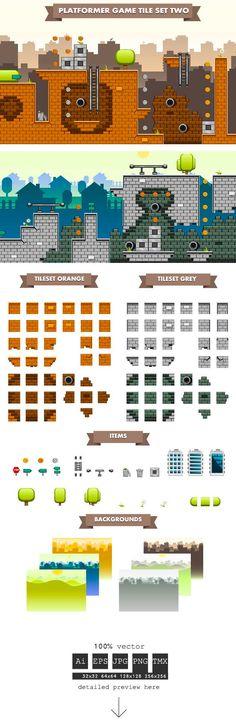 https://www.behance.net/gallery/14124729/Platformer-Game-Tile-Set-Two