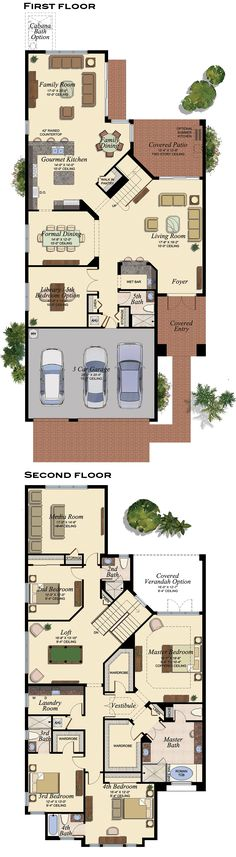 I really like this layout. It is a pity that there are 2 stories. Luxury House Plans, Dream House Plans, Modern House Plans, House Floor Plans, Floor Plans 2 Story, Dream Home Design, Home Design Plans, My Dream Home, House Design
