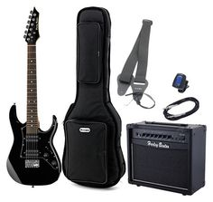 Harley Benton RG-Junior BK Bundle 1 - Thomann www.thomann.de #gifts #gift #present #xmas #christmas #music #gear #accessories #gear #instrument #kids #starters #beginners #begin #start #gear #guitar #electricguitar #set