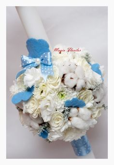 Fluffy cloud baptism candle