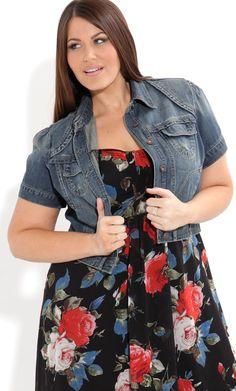 City Chic Women&39s Plus Size Zip Peplum Frill Jacket - Kryptonite