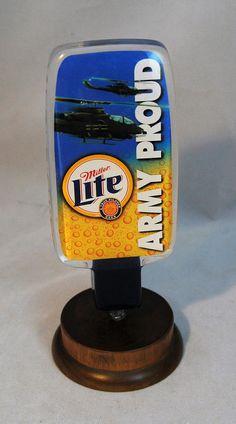 Tap Handle for Miller Lite Army Proud 2-Sided Clear Acrylic 6