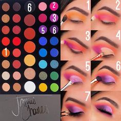 eyeshadow looks using james charles palette \ eyeshadow using james charles palette . eyeshadow looks using james charles palette . eyeshadow looks using the james charles palette . eyeshadow looks step by step using james charles palette Makeup Eye Looks, Eye Makeup Steps, Eye Makeup Art, Makeup 101, Colorful Eye Makeup, Cute Makeup, Makeup Ideas, Makeup Inspo, Makeup Inspiration