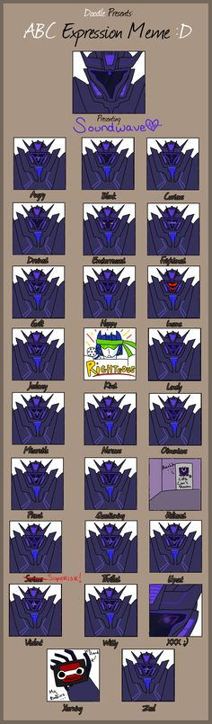 Soundwave's Expressions - XD I don't even know