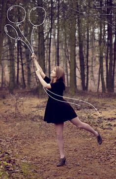 hand drawn balloons photography