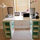 Build a Modern Craft Table |-Free and Easy DIY Project and Furniture Plans