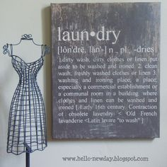 Laundry Sign inspired by Ballard Designs - Tutorial