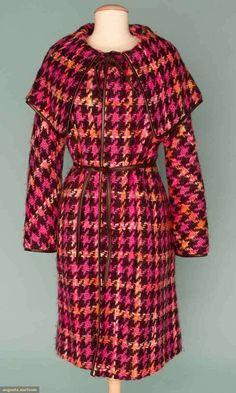 Bonnie Cashin wool coat, 1960s